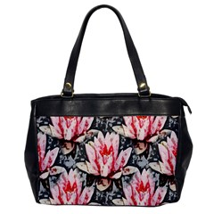 Water Lily Background Pattern Office Handbags by Nexatart