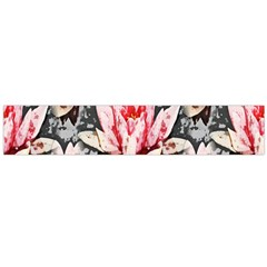 Water Lily Background Pattern Flano Scarf (large) by Nexatart
