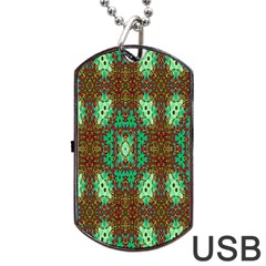 Art Design Template Decoration Dog Tag Usb Flash (two Sides) by Nexatart