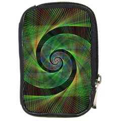 Green Spiral Fractal Wired Compact Camera Cases by Nexatart