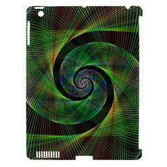 Green Spiral Fractal Wired Apple Ipad 3/4 Hardshell Case (compatible With Smart Cover) by Nexatart