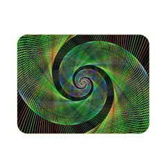 Green Spiral Fractal Wired Double Sided Flano Blanket (mini)  by Nexatart