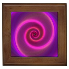Pink Background Neon Neon Light Framed Tiles by Nexatart