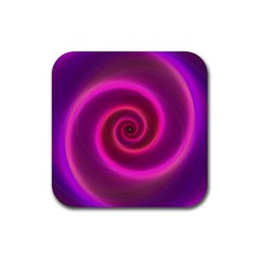 Pink Background Neon Neon Light Rubber Square Coaster (4 Pack)  by Nexatart