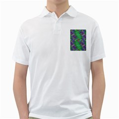 Fractal Spiral Swirl Pattern Golf Shirts by Nexatart