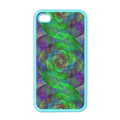 Fractal Spiral Swirl Pattern Apple Iphone 4 Case (color) by Nexatart