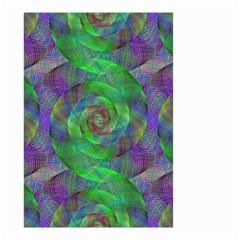 Fractal Spiral Swirl Pattern Small Garden Flag (two Sides) by Nexatart