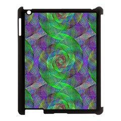 Fractal Spiral Swirl Pattern Apple Ipad 3/4 Case (black) by Nexatart