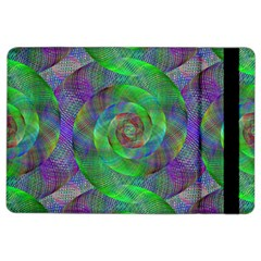 Fractal Spiral Swirl Pattern Ipad Air 2 Flip by Nexatart