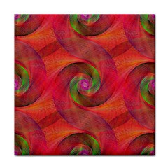 Red Spiral Swirl Pattern Seamless Face Towel by Nexatart