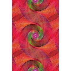 Red Spiral Swirl Pattern Seamless 5 5  X 8 5  Notebooks by Nexatart