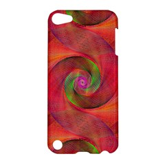 Red Spiral Swirl Pattern Seamless Apple Ipod Touch 5 Hardshell Case by Nexatart