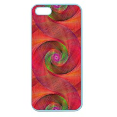 Red Spiral Swirl Pattern Seamless Apple Seamless Iphone 5 Case (color) by Nexatart