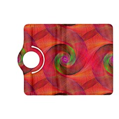 Red Spiral Swirl Pattern Seamless Kindle Fire Hd (2013) Flip 360 Case by Nexatart