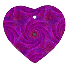 Pink Abstract Background Curl Ornament (heart) by Nexatart