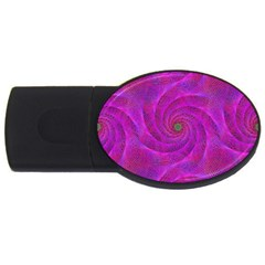 Pink Abstract Background Curl Usb Flash Drive Oval (4 Gb) by Nexatart