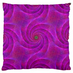 Pink Abstract Background Curl Standard Flano Cushion Case (one Side) by Nexatart