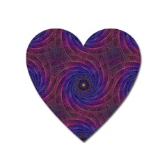 Pattern Seamless Repeat Spiral Heart Magnet by Nexatart