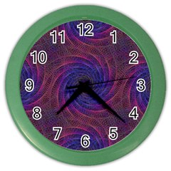 Pattern Seamless Repeat Spiral Color Wall Clocks by Nexatart