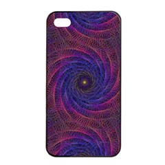 Pattern Seamless Repeat Spiral Apple Iphone 4/4s Seamless Case (black) by Nexatart
