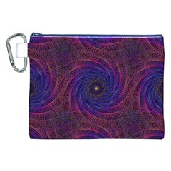 Pattern Seamless Repeat Spiral Canvas Cosmetic Bag (xxl)