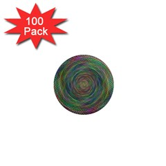 Spiral Spin Background Artwork 1  Mini Magnets (100 Pack)  by Nexatart