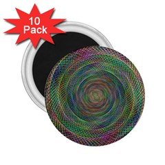 Spiral Spin Background Artwork 2 25  Magnets (10 Pack)  by Nexatart