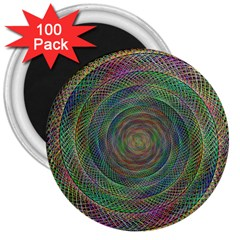 Spiral Spin Background Artwork 3  Magnets (100 Pack) by Nexatart