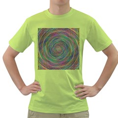 Spiral Spin Background Artwork Green T Shirt by Nexatart