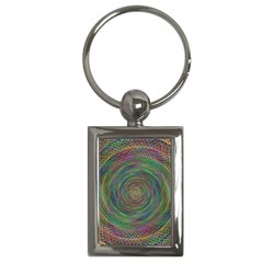 Spiral Spin Background Artwork Key Chains (rectangle)  by Nexatart