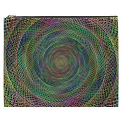 Spiral Spin Background Artwork Cosmetic Bag (xxxl)  by Nexatart