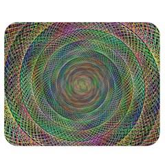 Spiral Spin Background Artwork Double Sided Flano Blanket (medium)  by Nexatart