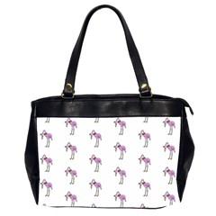 Sweet Flamingo Pattern Office Handbags (2 Sides)  by MoreColorsinLife