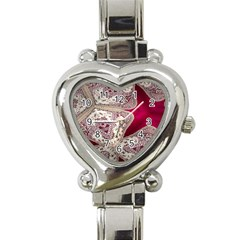 Morocco Motif Pattern Travel Heart Italian Charm Watch by Nexatart