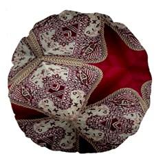 Morocco Motif Pattern Travel Large 18  Premium Flano Round Cushions by Nexatart