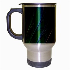 Texture Abstract Background Travel Mug (silver Gray)
