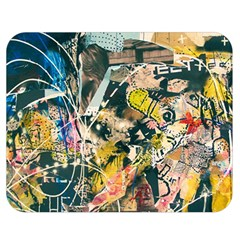 Art Graffiti Abstract Vintage Double Sided Flano Blanket (medium)  by Nexatart