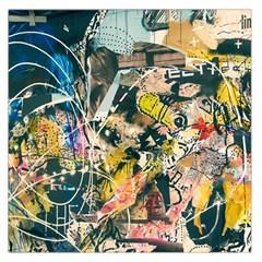 Art Graffiti Abstract Vintage Large Satin Scarf (square) by Nexatart