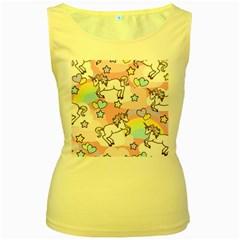 Unicorn Rainbow Women s Yellow Tank Top by Nexatart