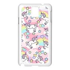 Unicorn Rainbow Samsung Galaxy Note 3 N9005 Case (white)
