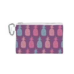 Pineapple Pattern Canvas Cosmetic Bag (s) by Nexatart