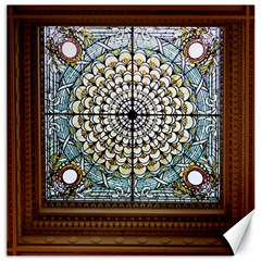 Stained Glass Window Library Of Congress Canvas 20  X 20   by Nexatart