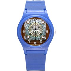 Stained Glass Window Library Of Congress Round Plastic Sport Watch (s) by Nexatart