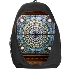 Stained Glass Window Library Of Congress Backpack Bag by Nexatart