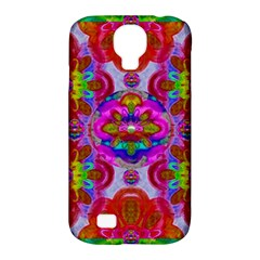 Fantasy   Florals  Pearls In Abstract Rainbows Samsung Galaxy S4 Classic Hardshell Case (pc+silicone) by pepitasart