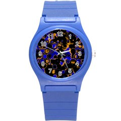 Psychedelic Lights 5 Round Plastic Sport Watch (s) by MoreColorsinLife