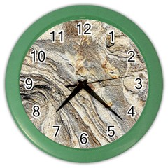 Background Structure Abstract Grain Marble Texture Color Wall Clocks by Nexatart