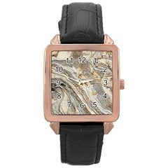 Background Structure Abstract Grain Marble Texture Rose Gold Leather Watch  by Nexatart