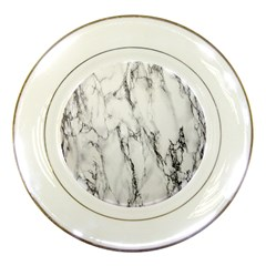Marble Granite Pattern And Texture Porcelain Plates by Nexatart