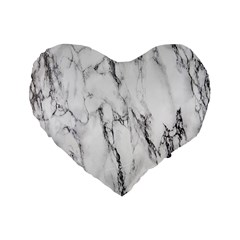 Marble Granite Pattern And Texture Standard 16  Premium Flano Heart Shape Cushions by Nexatart